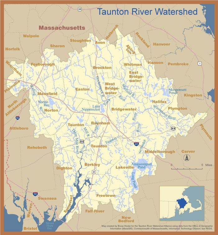 Taunton-Watershed Map