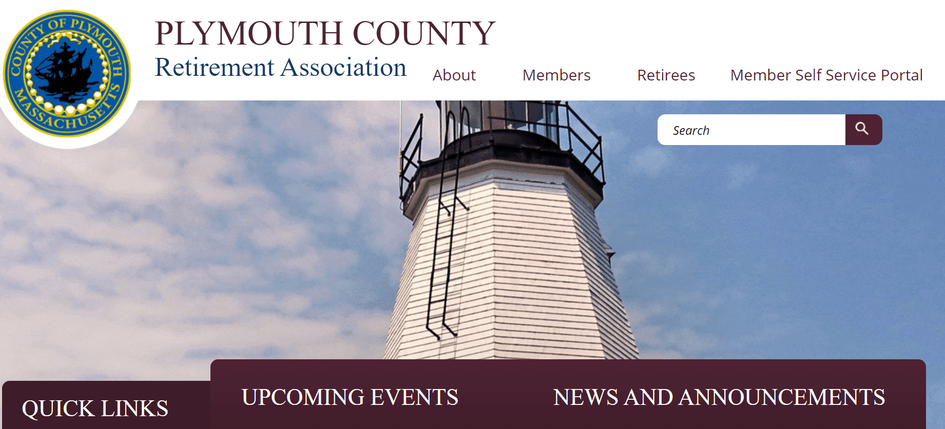 Plymouth County Retirement Website